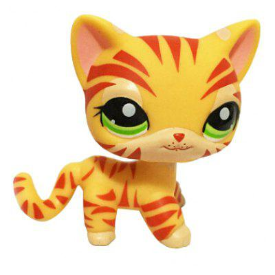Pet Shop Short Hair Cat Kitty Figure Toy for Children