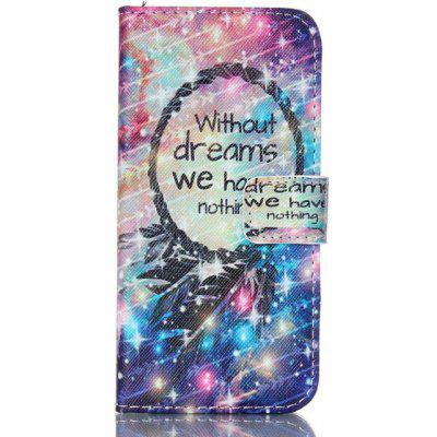 Starlight Printing Stand Cover PU Leather Full Body Case for iPhone 7 Credit Card Holder
