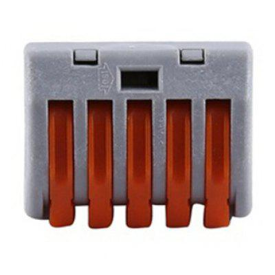 20pcs 5 Way Reusable Spring Lever Terminal Block