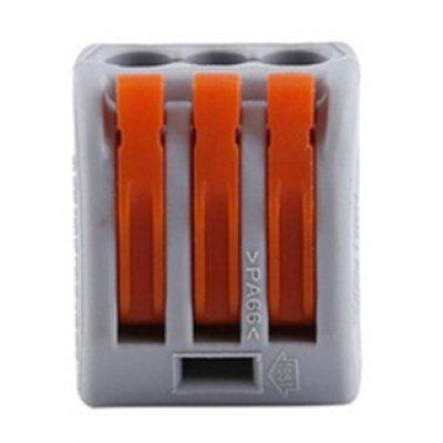 20pcs 3 Way Reusable Spring Lever Terminal Block