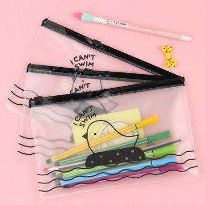 Cartoon Matte Pencil Bag Creative Stationery