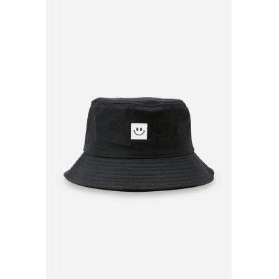 Buy BLACK Smiling Face Pattern Sun Protection Cotton Bucket Hat for $8.37 in GearBest store