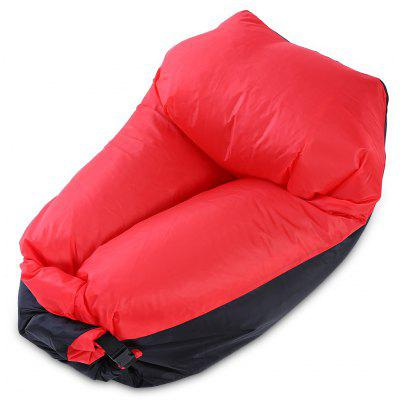 Buy RED WITH BLACK Portable Anti-water 400kg Loading Fast Inflatable Sofa Chair for $11.03 in GearBest store
