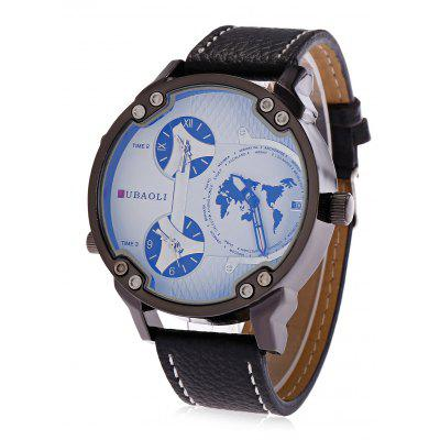 JUBAOLI A638 3-movt Male Leather Band Watch