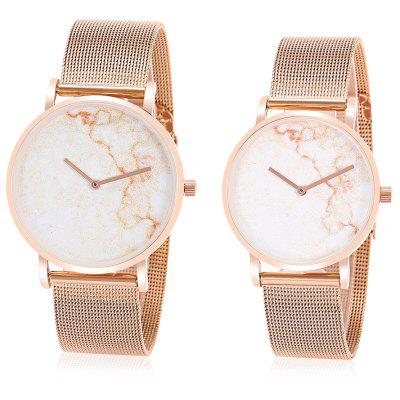 CAGARNY Marble Face Couple Watches