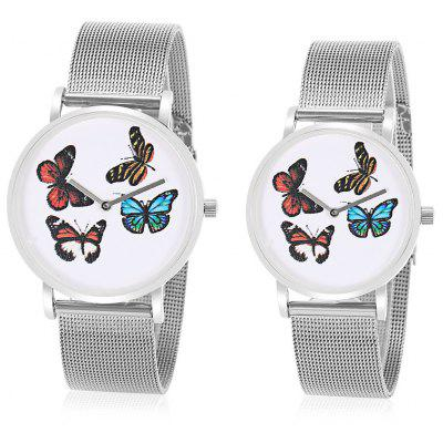 CAGARNY Butterfly Face Couple Watches