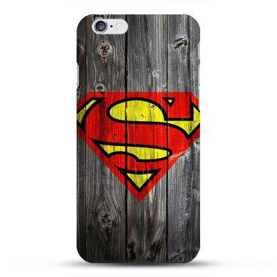 Cartoon Pattern Wood Grain TPU Soft Case Protector for iPhone 6 / 6S
