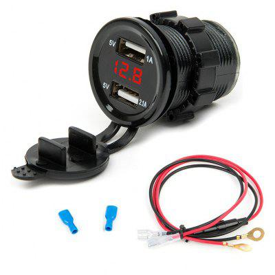 3.1A Dual USB Car Charger Voltage Display