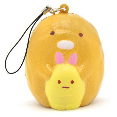 Mini Cute Lazy Egg Soft PU Foam Squishy Toy