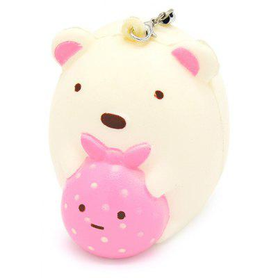 Buy COLORMIX Mini Cute Cartoon Bear PU Foam Squishy Toy for $4.07 in GearBest store