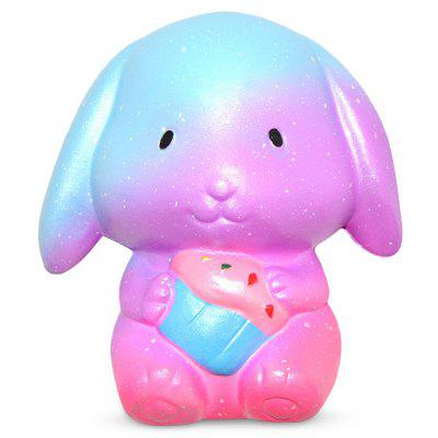 Lovely Night Sky Color Rabbit Jumbo Squishy Toy with Scent