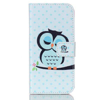 Owl Printing Stand Cover PU Leather Full Body Case for iPhone 7 Plus Credit Card Holder