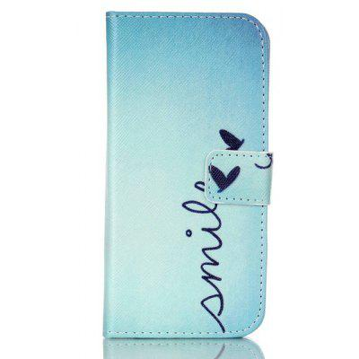 Letter Printing Stand Cover PU Leather Full Body Case for iPhone 7 Credit Card Holder
