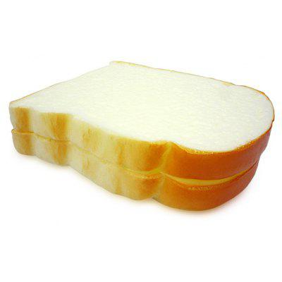 Buy YELLOW Realistic Sliced Bread Soft PU Foam Squishy Toy for $3.16 in GearBest store