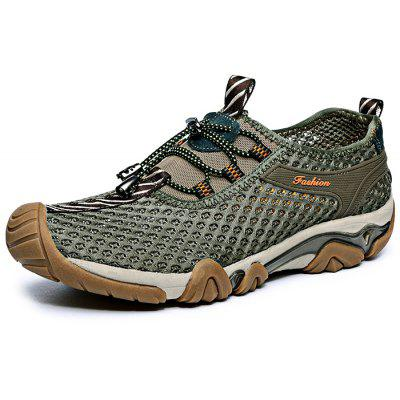Outdoor Mesh Breathable Lace-up Men Hiking Shoes