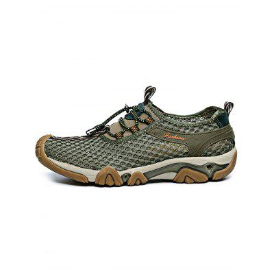 Outdoor Mesh Breathable Lace-up Men Hiking ShoesAthletic Shoes<br>Outdoor Mesh Breathable Lace-up Men Hiking Shoes<br><br>Contents: 1 x Pair of Shoes<br>Materials: EVA, Rubber<br>Occasion: Casual<br>Package Size ( L x W x H ): 32.00 x 18.00 x 12.00 cm / 12.6 x 7.09 x 4.72 inches<br>Package Weights: 0.930kg<br>Seasons: Autumn,Spring,Summer<br>Style: Leisure, Fashion, Comfortable<br>Type: Hiking Shoes