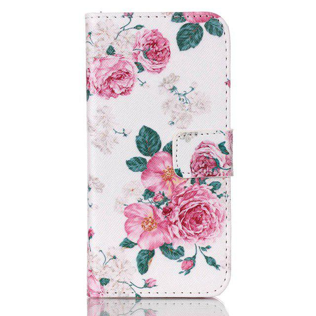 Rose Printing Stand Cover PU Leather Full Body Case for Samsung Galaxy S7 Edge Credit Card Holder