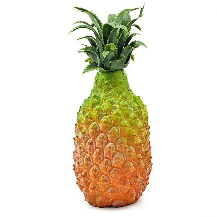 YELLOW AND GREEN Realistic Pineapple PU Foam Fruit Squishy Toy