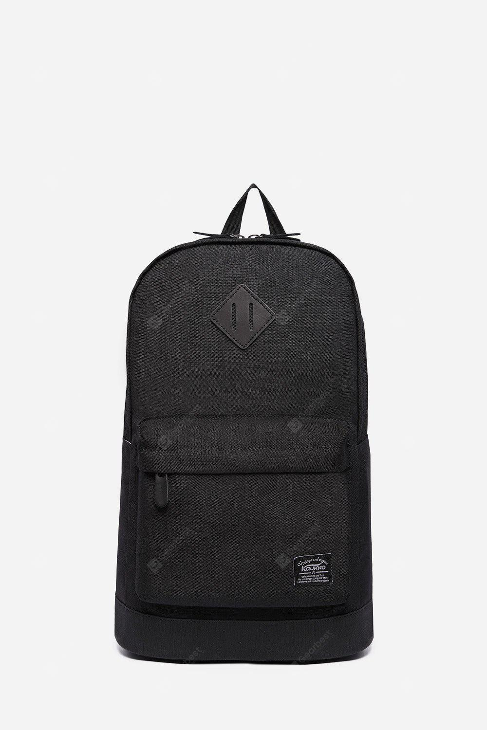 BLACK 18L Water-resistant Trendy Backpack for Men