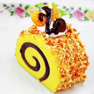 Buy YELLOW Beautiful Realistic Swiss Roll PU Foam Squishy Toy for $2.83 in GearBest store