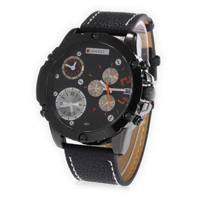 Buy ORANGE JUBAOLI A401 Male Leather Band Date DisplayQuartz Watch for $10.78 in GearBest store