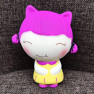 Buy COLORMIX Cute Cartoon Smiling Girl PU Foam Squishy Toy for $6.88 in GearBest store