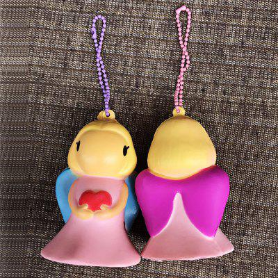 Buy COLORMIX Cute Cartoon Angel PU Foam Squishy Toy 1pc for $4.07 in GearBest store
