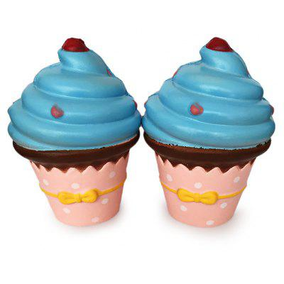 Buy COLORMIX Cute Cartoon Ice Cream PU Foam Squishy Toy 1pc for $6.39 in GearBest store
