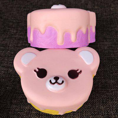 Buy COLORMIX Cute Cartoon Bear Cake PU Foam Squishy Toy 1pc for $6.80 in GearBest store