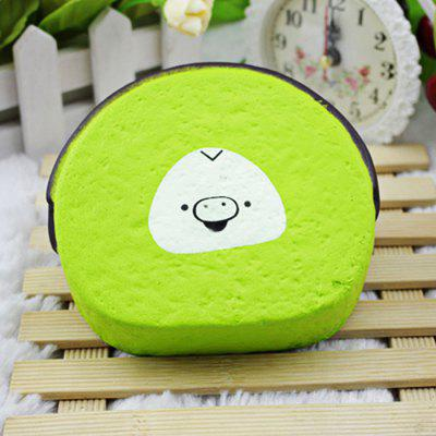 Happy Piggy Face Cake PU Foam Jumbo Squishy Toy