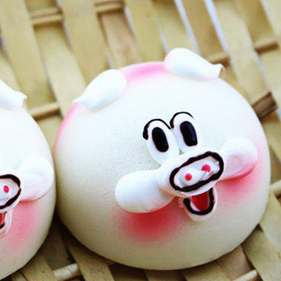 Buy WHITE Realistic Animal Steamed Bun PU Foam Squishy Toy 1pc for $3.68 in GearBest store