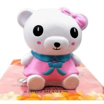 Cartoon Pink Dress Bear PU Foam Jumbo Squishy Toy