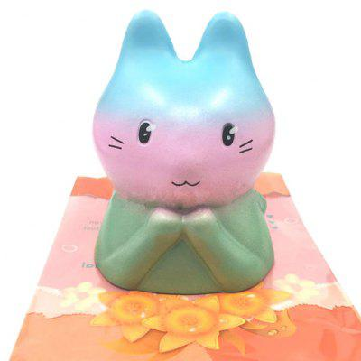 Cute Rainbow Rabbit Soft PU Foam Squishy Toy
