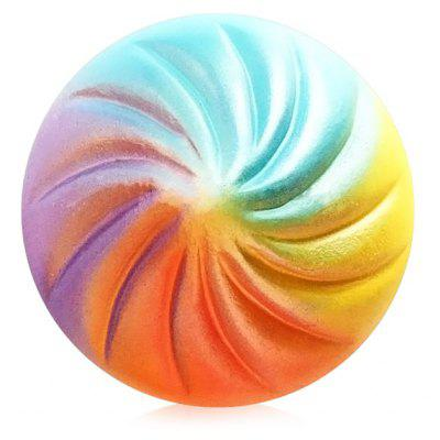 Rainbow Steamed Stuffed Bun PU Foam Squishy Toy