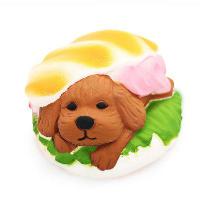 Buy COLORMIX Cute Burger Dog Soft PU Foam Squishy Toy for $6.27 in GearBest store