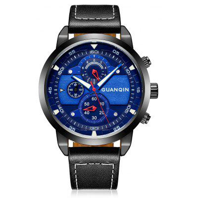 Buy BLUE GUANQIN GS19078 Men Fashion Quartz Watch for $29.99 in GearBest store