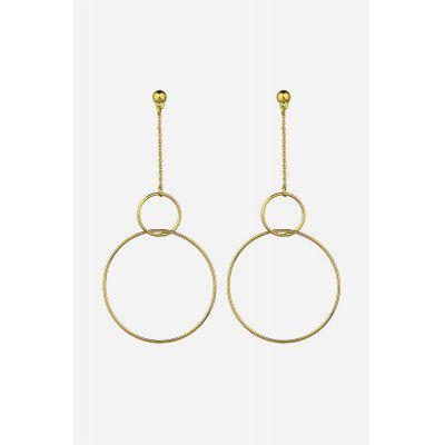 Korean Fashion Alloy Hoop Earrings