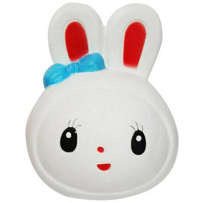 12cm Cute Rabbit Head PU Foam Squishy Toy