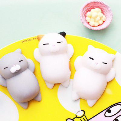 Cute Cartoon Lazy Sleeping Cat TPR Squishy ToySquishy toys<br>Cute Cartoon Lazy Sleeping Cat TPR Squishy Toy<br><br>Color: White<br>Materials: TPR<br>Package Content: 1 x Squishy Toy<br>Package Dimension: 7.00 x 5.00 x 4.00 cm / 2.76 x 1.97 x 1.57 inches<br>Package Weights: 40g<br>Pattern Type: Animal<br>Product Dimension: 5.00 x 3.00 x 3.00 cm / 1.97 x 1.18 x 1.18 inches<br>Product Weights: 25g<br>Products Type: Squishy Toy<br>Use: Home Decoration, Art &amp; Collectible