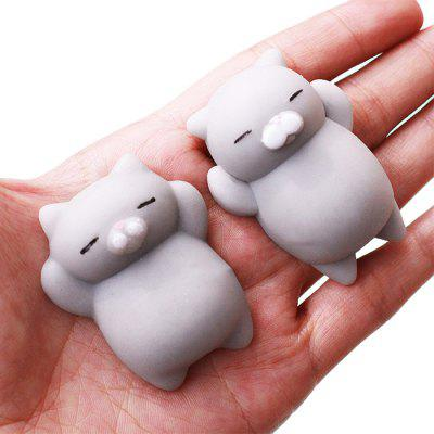 Cute Cartoon Lazy Sleeping Cat TPR Jumbo Squishy Toy