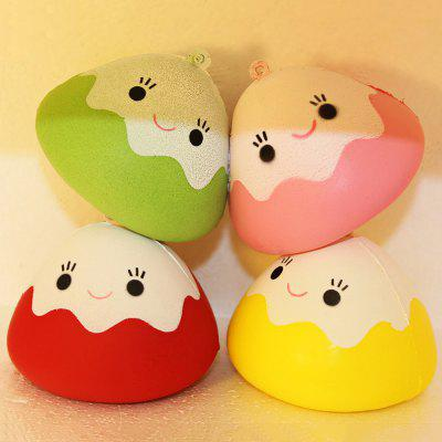 Cute Smiling Onigiri Soft PU Foam Squishy Toy