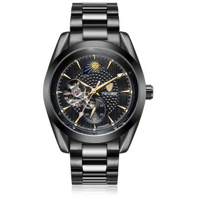 Buy BLACK TEVISE 795C Luminous Men Auto Mechanical Watch for $36.36 in GearBest store