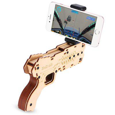 Bluetooth 4.0 AR Pine Wood Gun with Mobile Phone Holder