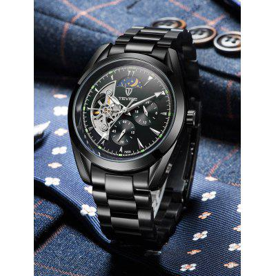 TEVISE 795A Luminous Men Auto Mechanical WatchMens Watches<br>TEVISE 795A Luminous Men Auto Mechanical Watch<br><br>Band material: Stainless Steel<br>Band size: 20 x 2cm<br>Brand: Tevise<br>Case material: Alloy<br>Clasp type: Folding clasp with safety<br>Dial size: 4.2 x 4.2 x 1.6cm<br>Display type: Analog<br>Movement type: Automatic mechanical watch<br>Package Contents: 1 x Watch, 1 x Box<br>Package size (L x W x H): 10.00 x 10.00 x 6.00 cm / 3.94 x 3.94 x 2.36 inches<br>Package weight: 0.3600 kg<br>Product size (L x W x H): 20.00 x 4.20 x 1.60 cm / 7.87 x 1.65 x 0.63 inches<br>Product weight: 0.1370 kg<br>Shape of the dial: Round<br>Special features: Luminous, Phases of the moon, Tourbillon<br>Watch style: Fashion<br>Watches categories: Men<br>Water resistance : Life water resistant