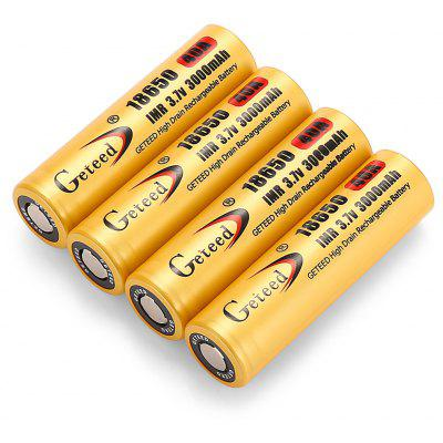 Geteed 3.7V 3000mAh 40A 18650 Li-ion Rechargebale Battery