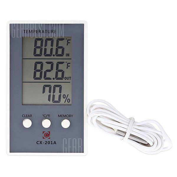 WHITE AND BLACK CX 201A LCD Digital Thermometer Hygrometer