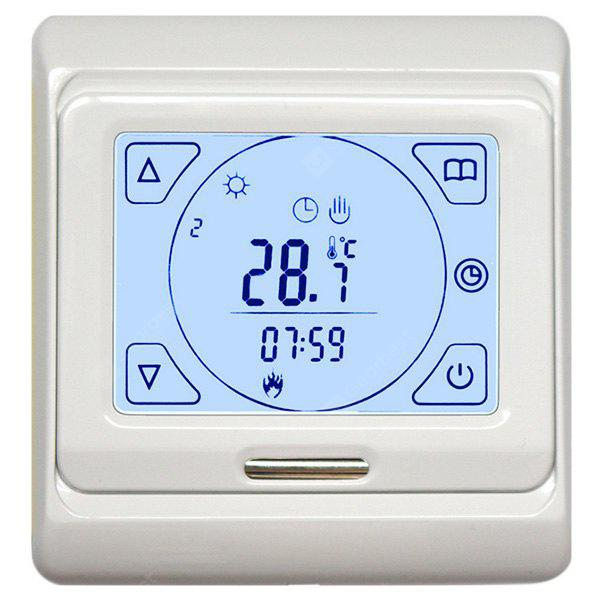 WHITE LCD Programmable Digital Heating Thermostat