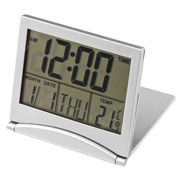 SILVER High-quality Desk Digital LCD Hygrometer Thermometer
