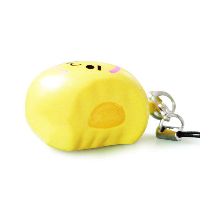 YELLOW Steamed Custard Bun with Movable Filling PU Foam Squishy Toy