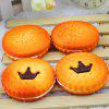 Realistic Crown Cookie 1pc Spumă PU Jumbo Squishy Toy - PORTOCALE